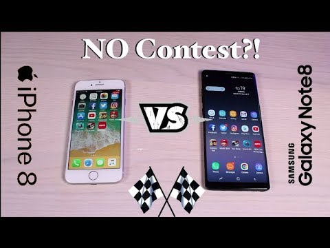 Galaxy Note 8 vs iPhone 8 SPEED TEST No Contest?!