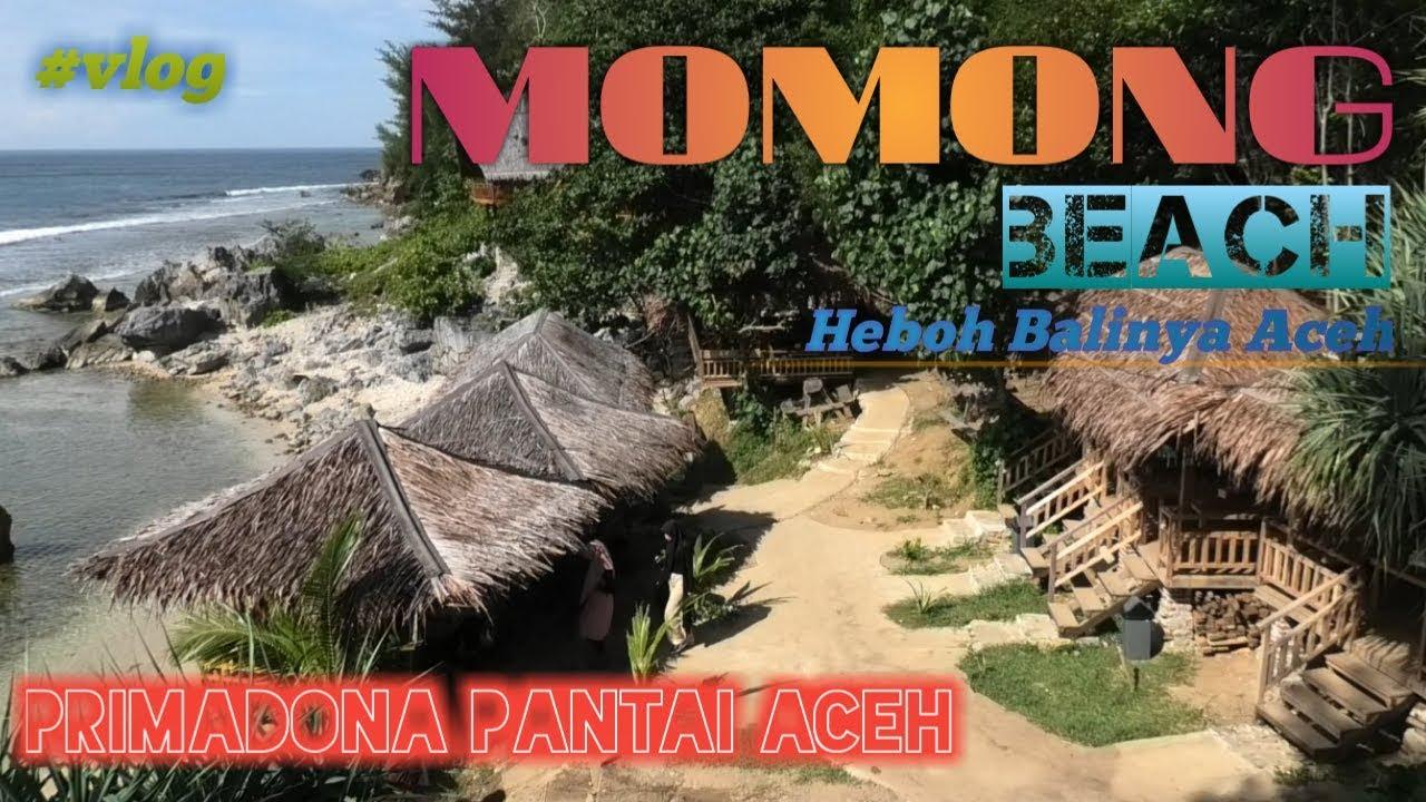 Pesona Baru Wisata Pantai Momong Lampuuk Aceh Vlog Di Eky S Momong Cafe And Resort Balinya Aceh Youtube