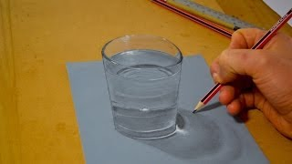 3D Illusion, Drawing a Glass of Water