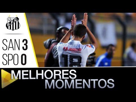 Santos 3 x 0 São Paulo | MELHORES MOMENTOS | Brasileirão (26/06/16)