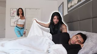 WAKING UP TO A STRANGER PRANK ON HUSBAND!