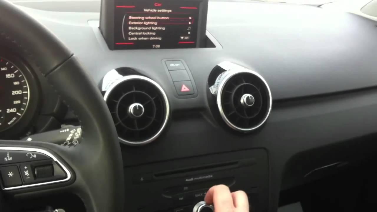 Audi A1 interior 01 - YouTube