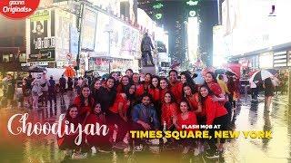 Choodiyan Flash mob @ NYC Times Square | Jackky Bhagnani ft. BnBDance NYC
