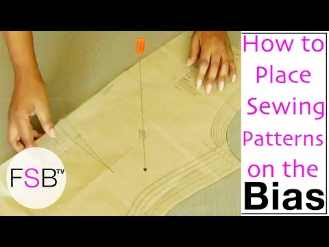 Laying Sewing Patterns on the Bias