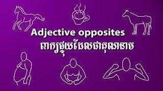 Adjective Opposite #002 ពាក្យផ្ទុយភាសាអង់គ្លេស speak Khmer