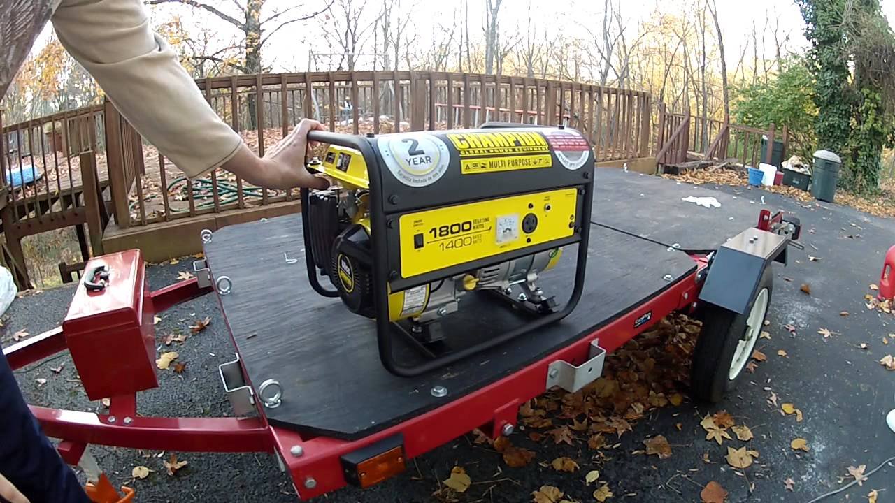 how to start a flooded generator