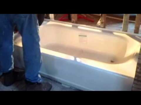 americast bathtub install