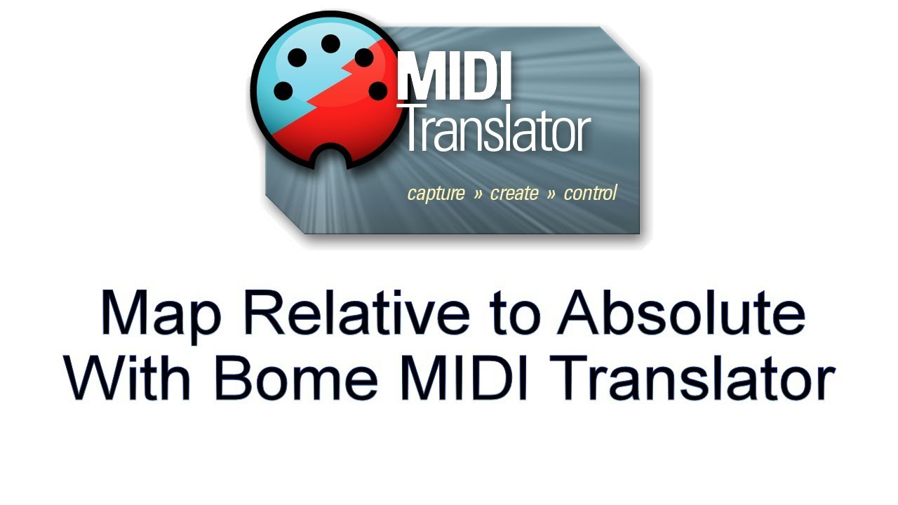 Tutorial: Map a relative encoder to absolute control change with Bome MIDI  Translator Pro