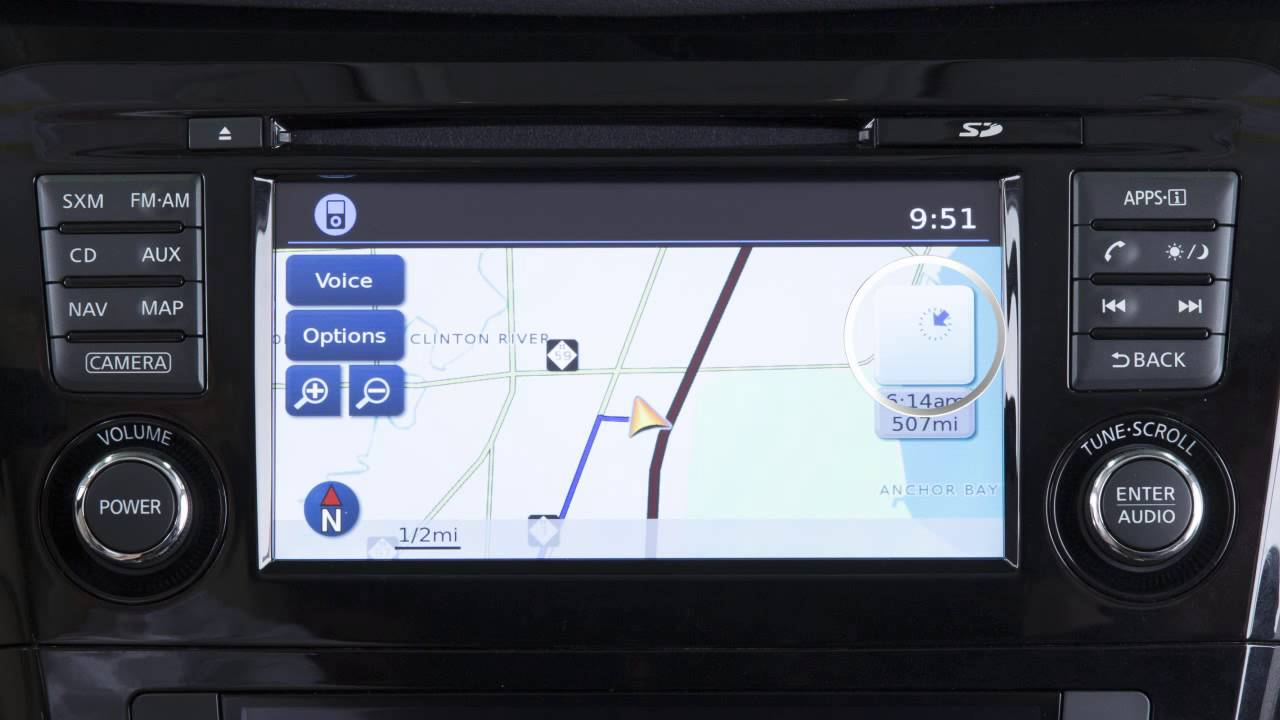 2015 Nissan Rogue - Map Button (if so equipped)