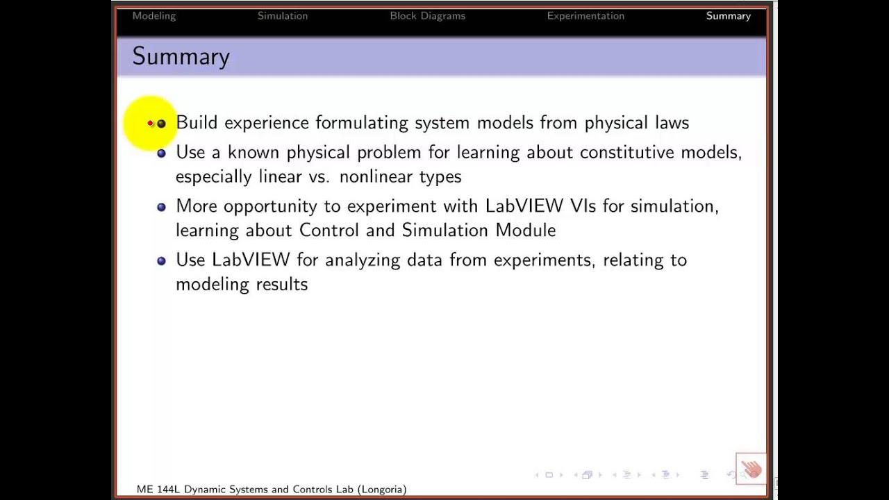Me 144l Pendulum 7 Summary Conclusions Youtube Physicalblockdiagramjpg