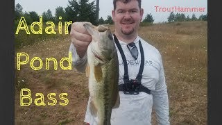 Fishing Adair Pond for Largemouth Bass
