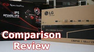 SpecterPro SP24SL-IPS vs LG 23MP68VQ - Comparison Review