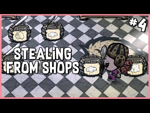 🐷 Stealing from the Shop & Krampus Shows Up? | Don't Starve Hamlet Early Access Gameplay | Part 4