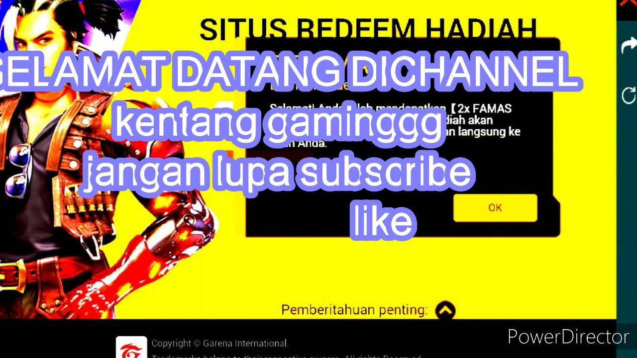 Kode Redeem free fire - YouTube