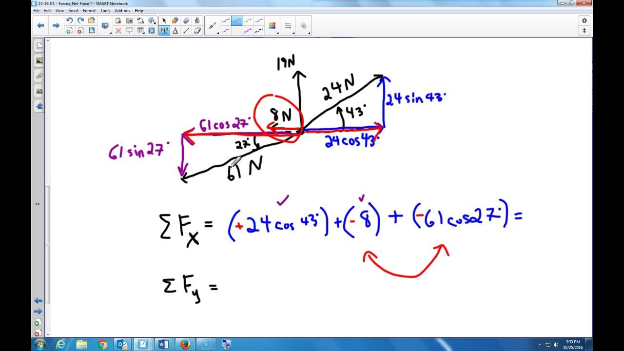 Adding Non Perpendicular Forces Youtube Adding non perpendicular vectors