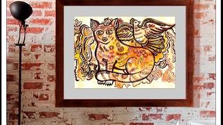 Авторские подарки — Картины с котами