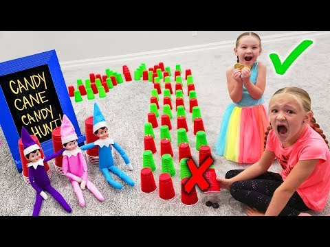 Don't Pick the Wrong Candy Cane Cup! Elf On The Shelf Day 10!!