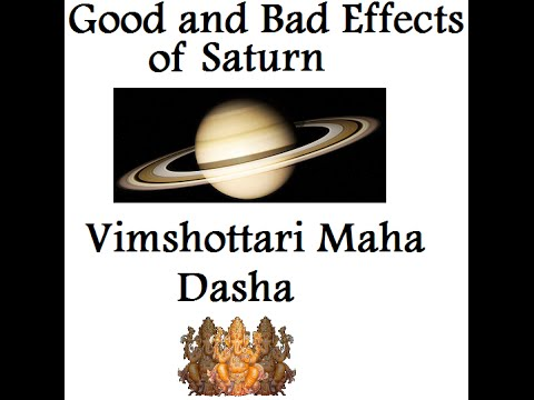 Saturn Dasha's Good and Bad Effects - Vimshottari Nakshatra Dasha Vedic  Astrology Course 7/24