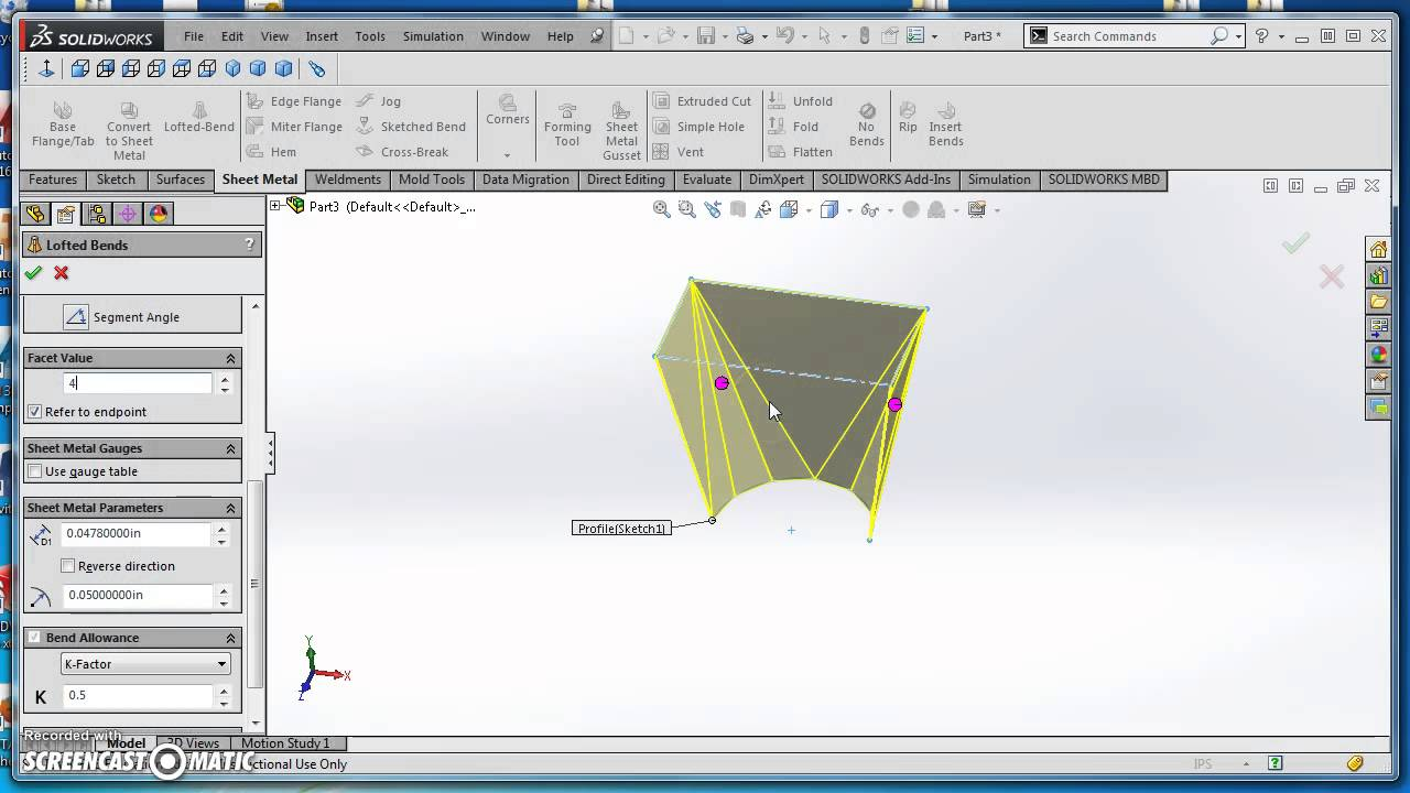 Round To Rectangle Transition In Solidworks Youtube