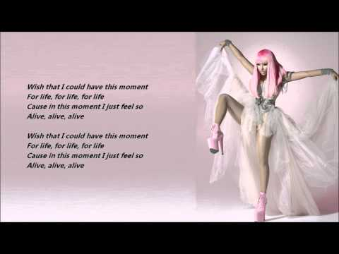 Nicki Minaj & Drake - Moment 4 Life /\ Lyrics On A Screen