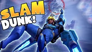 Pharah Gets a SLAM DUNK!! - Overwatch Funny Moments & Best Plays 49
