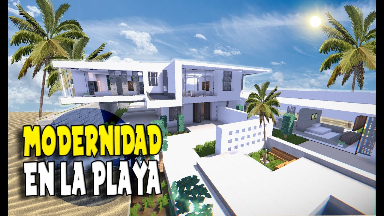 Minecraft la casa en la playa con perfecta vista al mar - Casa de playa ...