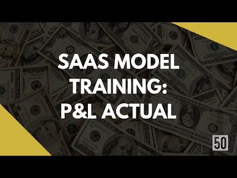 P&L Actual | Guide To Making A Perfect SaaS Model | 50Folds