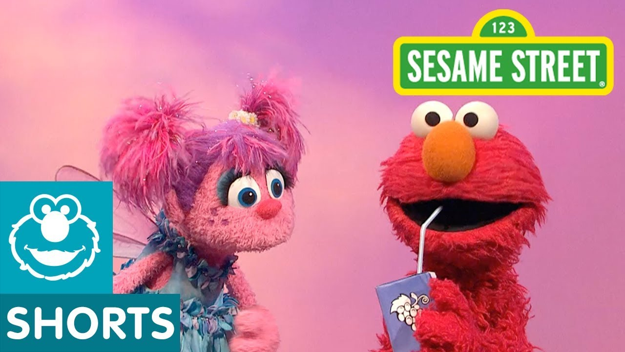 Sesame Street Abby And Elmo Figure Out What A Straw Can Do