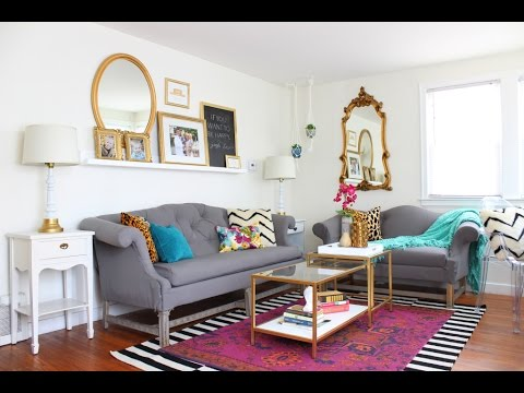 ROOM REVEAL: Living Room Makeover with Jewel Tones