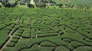 Apollo 11 Corn Maze At Richardson Adventure Farm In Spring Grove