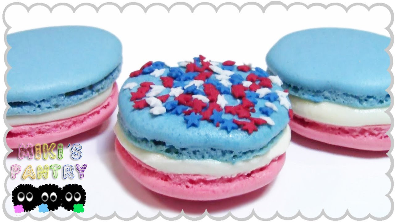 INDEPENDENCE DAY MACARONS COOKIES, DESSERT IDEAS