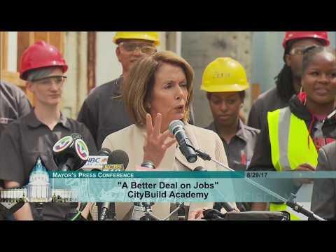 CityBuild Academy Tour With House Minority Leader Nancy Pelosi
