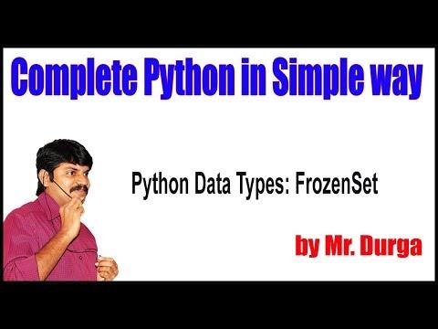 Fundamental Data Types ||   Python Data Types FrozenSet || by Durga Sir thumbnail