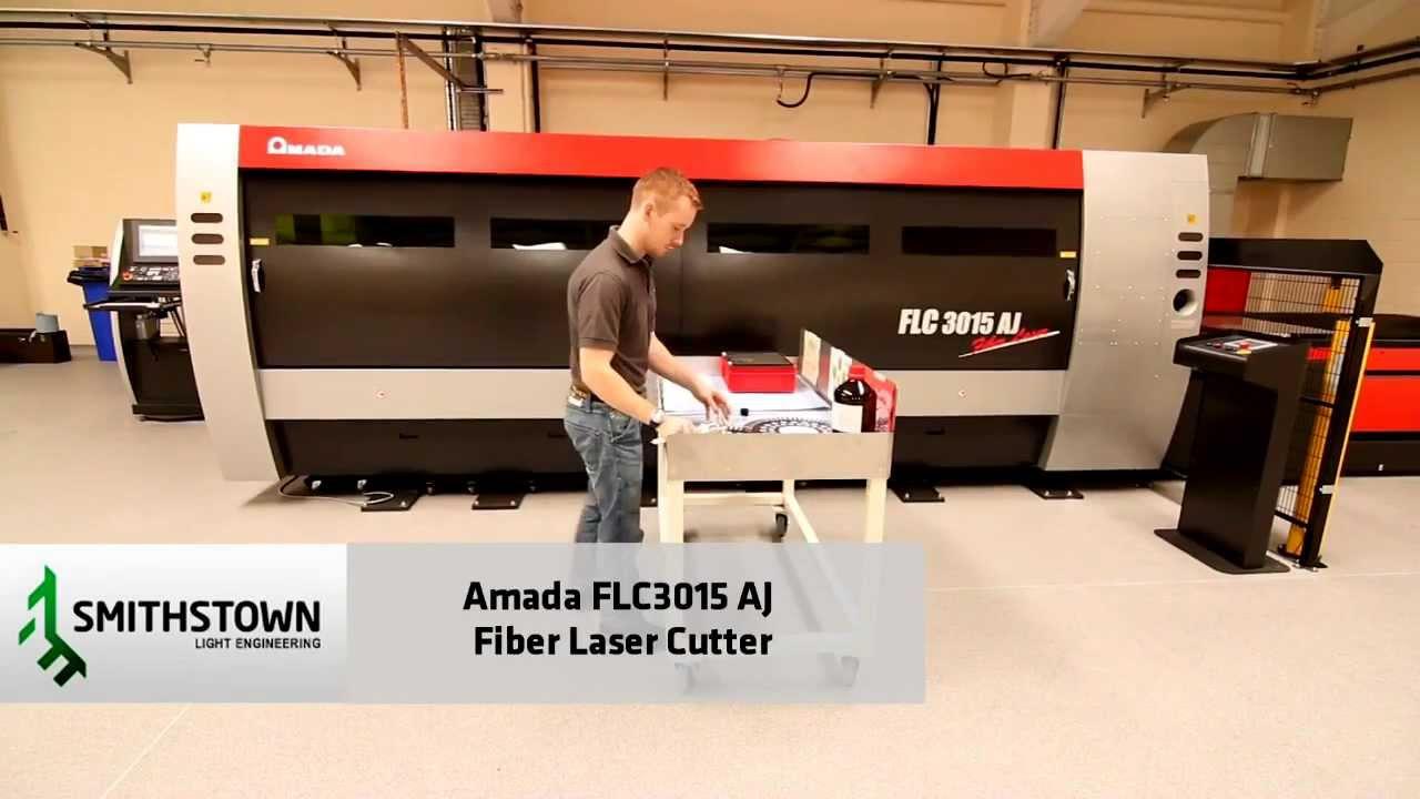 Amada Flc3015aj Fiber Laser Cutting Youtube