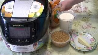 Домашние видео рецепты   молочная  ячневая каша в мультиварке