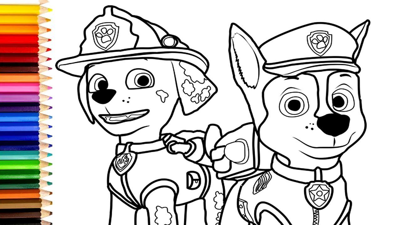 paw patrol # 1 ausmalbilder - malvorlagen für kinder mit