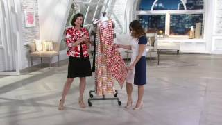 Liz Claiborne New York Floral Stripe Maxi Dress on QVC