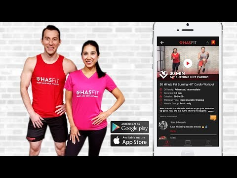 IT'S FINALLY HERE! Download the new HASfit app for FREE! from YouTube · Duration:  36 seconds