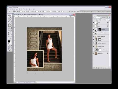 photoshop tutorial adding photos to layered templates in photoshop youtube. Black Bedroom Furniture Sets. Home Design Ideas