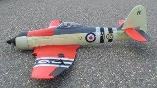 RC Hawker Sea-Fury high Speed fly