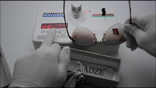 AOZE Luxury Flower Carving Gradient lens sunglasses women 937