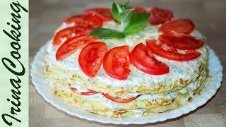Самый вкусный КАБАЧКОВЫЙ ТОРТ закусочный | Zucchini Cake - the Most Delicious Snack