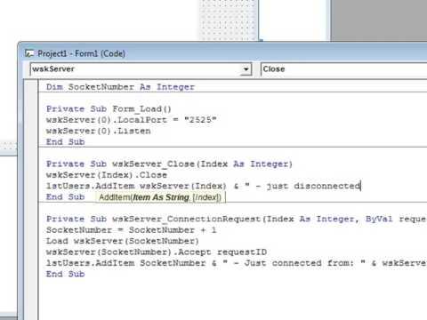 DarkestCode - [VB6] MS Winsock (Multi Server)
