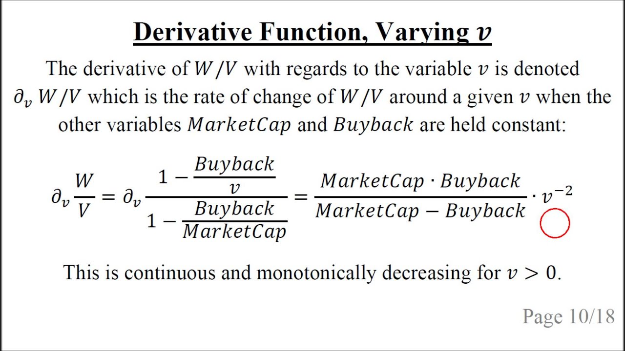 Share Buyback Valuation, Mathematical Analysis of Relative Value (Part 7)