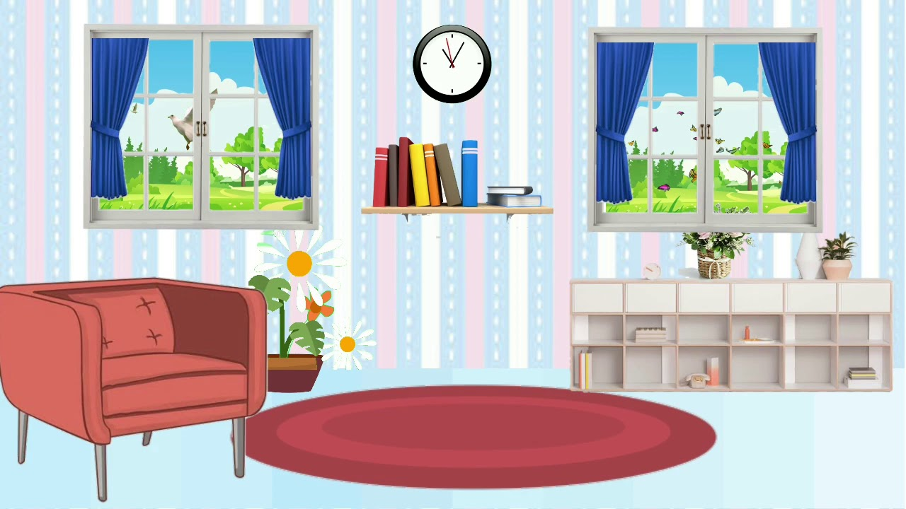 Background Animasi Bergerak Ruangan (Blue) - YouTube