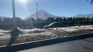 Hielo en Arequipa por primera vez de esta magnitud