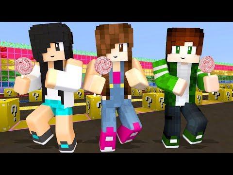 Minecraft Lucky Block - CORRIDA DOS DOCES EM FAMÍLIA