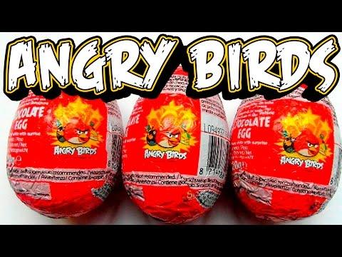Angry Birds Eggs Surprise Шоколадные Яйца Сюрпризы Энгри Брдс