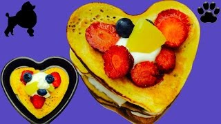 How To Make Valentines Strawberry Hotcakes/pancakes/griddle Cakes Diy Dog Food By Cooking For Dogs