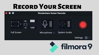 Record Your Screen in filmora9